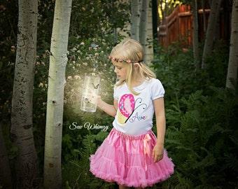 Butterfly shirt or bodysuit- Girls butterfly shirt- Summer Applique shirt- Pink Butterfly Birthday shirt- Girl's Butterfly Embroidered shirt