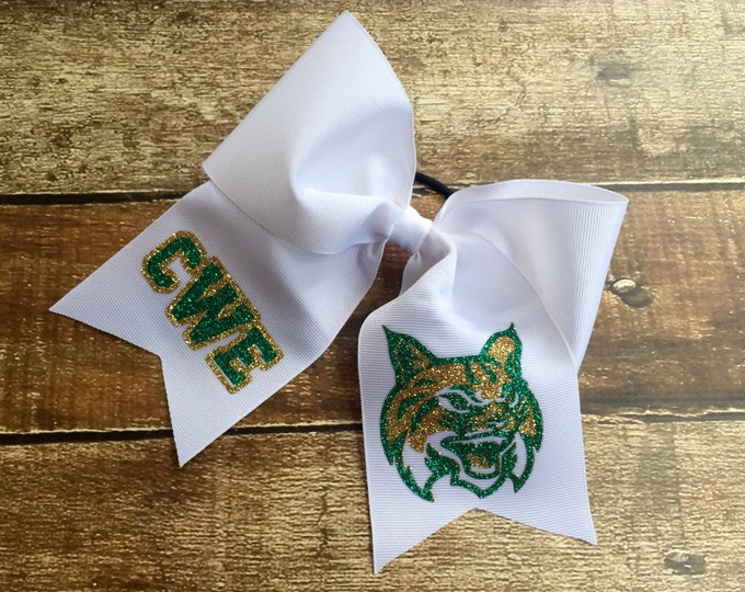 Monogram Cheer Bows, Monogrammed Cheer bow, Monogram Cheer bows, Monogrammed Gifts, Wholesale Cheer bows, Cheer bows, Hair bows