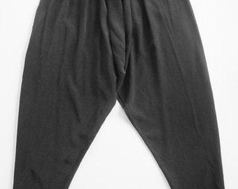 1980s Black Silk Harem Pants