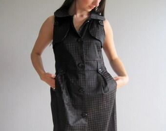 MARNI dress, Summer Dress, Mini Black Dress, Designer Dress size S, Sleveless Dress, 90s Clothing, Womens Dress