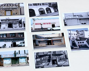 Los Angeles Bar Photo Post Cards, Postcard Set