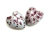 Romantic  Porcelain Hearts  , Couples Gift  ,Girls Room Decor,Romance