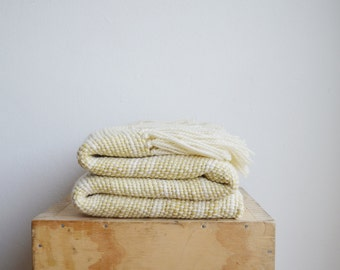 Yellow Marcela Dyed Wool wrap, Eco handwoven Blanket,  Floral Marcela plant