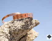 The Four Directions // Copper Bangle, Unisex, Bohemian Jewelry, Medicine Wheel