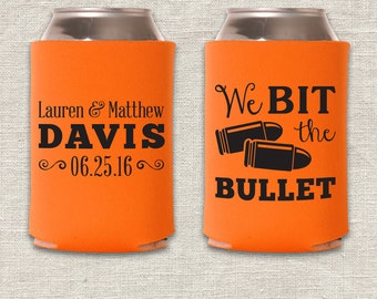 We Bit the Bullet - Hunting Wedding Can Cooler