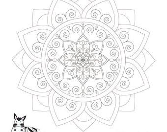 Items similar to woman of valor strength mandala coloring for Jewish mandala coloring pages