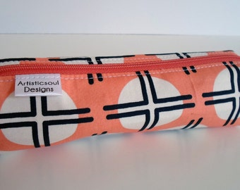 Pencil Case, Pencil Pouch, School Supply – April Rhodes Clay Dot - Toiletry & Cosmetics Bag