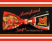 BowTies Made From University of Maryland Fabric - Support The Terps by Wearing a Fun Red & Black Bow Tie - U.S.SHIPPlNG ALWAYS ONLY 1.99