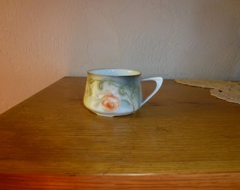 Vintage RS Germany Hand Painted Cup with Beautiful Roses