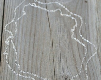 Layered Initial Necklace,All 925 sterling silver, double chain, personalized,Monogram,letter A B C D E F G H I J K L M N O P R S T U V W Y Z