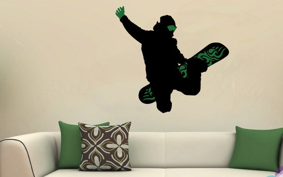 Snowboard Sports Wall Sticker