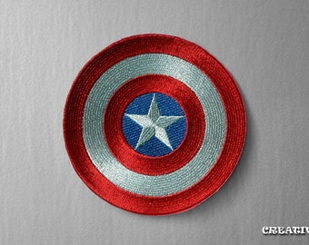 Captain America's Shield - sew/iron on Patch