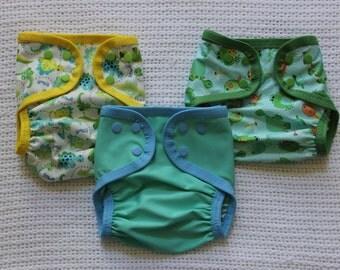 Cloth Diaper Cover Set of 3 Size Medium