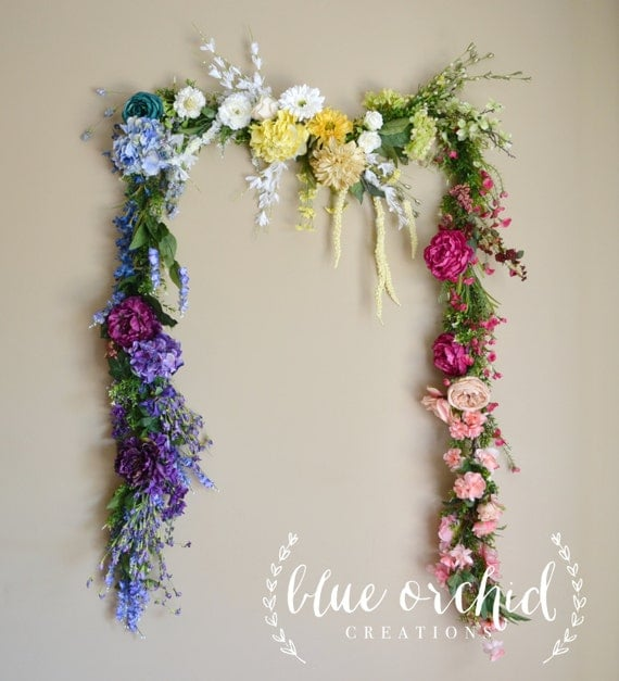 Wedding Garland Floral Garland Flowers Colorful Floral