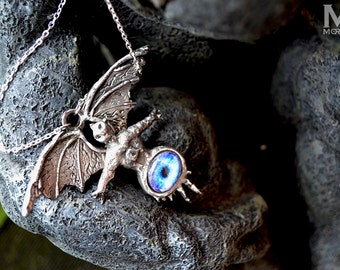 King Diamond eye of the witch solid pewter pendant by Mortiis.M