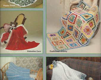 Sweet Dreams - American School of Needlework #13 - Pattern Baby Afghans To Knit & Crochet, Animal Afghan, Granny Square Afghan, Knit Blanket