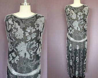 1920's Flapper Beaded Gown