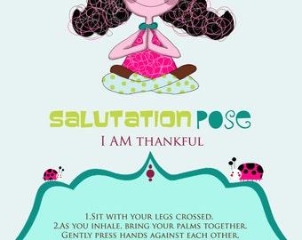 """4 Kids Yoga Poses Printable Cards, Yoga Cards, Yoga Poses, Kids Yoga Poses, Kids Yoga, Kids Yoga Party 4 x 6"""""""