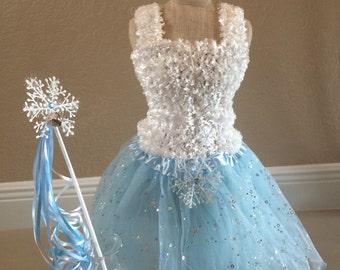 Elsa Dress, Frozen Dress, Frozen Tutu Dress, Elsa Frozen Tutu, White Tutu Top, Frozen  Party Favors, Frozen Birthday Favors, Fairy Dress