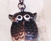 Vintage Owl Watch Necklace Great Graduation Gift Estate Jewelry NorthCoastCottage