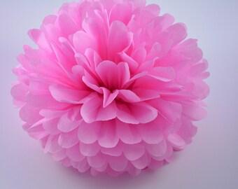 One Raspberry Tissue paper Pom Poms // Wedding Decorations // Party Decorations // Pom Poms