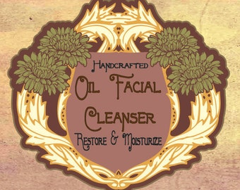 Handcrafted Oil Facial Cleanser & Moisturizer