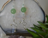Biolojewelry - Aventurine Heart Chakra Neurotransmitter Dopamine Earrings