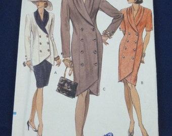 Vogue 7848 SZ 8 10 12 Pattern Misses Dress Top Skirt 1990 Uncut