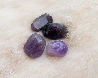 AMETHYST TUMBLED STONE 1 Ounce Metaphysical Purple Amethyst Stones