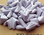 100 paper origami hearts - Spring - wedding decor - free delivery