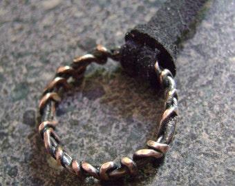 CROWN OF THORNS Pendant - Christian Jewelry, Symbol of Jesus Christ Faith Pendant, Copper Pendant, Artisan Jewelry
