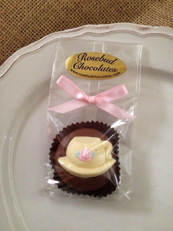 12 Chocolate Teacup Oreo Cookie Favors Tea Party Candy Wedding