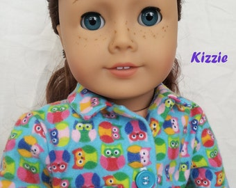 Handmade Doll Couture Pajamas for 18 inch Dolls by Kizzie Creations