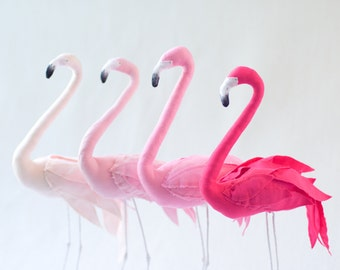 Pink Flamingo art sculpture - ombre pink choices
