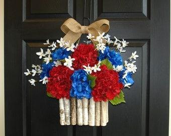 summer wreath, summer wreaths for front door decorations front door wreaths, patriotic, 4th of July, summer celebrations