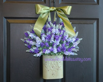 summer wreaths summer wreath lavender wreaths for door front door wreaths door decorations