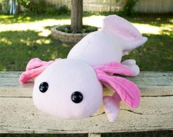 Giant Axolotl Stuffed Animal, Plushie, Plush Toy, Huge Stuffed Animal