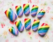 Rainbow Fake Nails, Fake Nails, False Nails, Press on Nails, Acrylic Nails, Fake Nail Art, Rainbow, Glitter, Cute Nails, Summer Nails