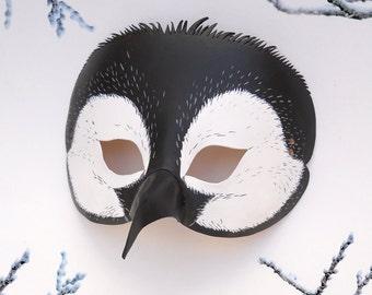 Penguin Halloween Mask Leather Black White Bird Animal Penguins Beak Birds Batman Happy Feet Cute Birdsmouth Heron Wings Masquerade Carnival