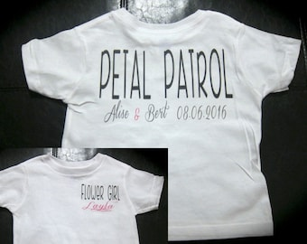 Petal Patrol flower girl t-shirt wedding married
