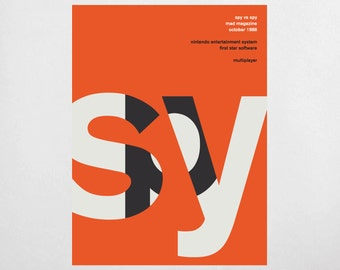 Swiss Print Remix - Spy vs Spy