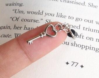 Tiny Silver key - Anti-Dust Plug Ear Cap 3.5mm for iPhone4,5,6/ipad, iPod,Samsung.