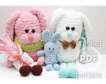 Bunny Family Crochet Pattern- Hoppy Family PDF
