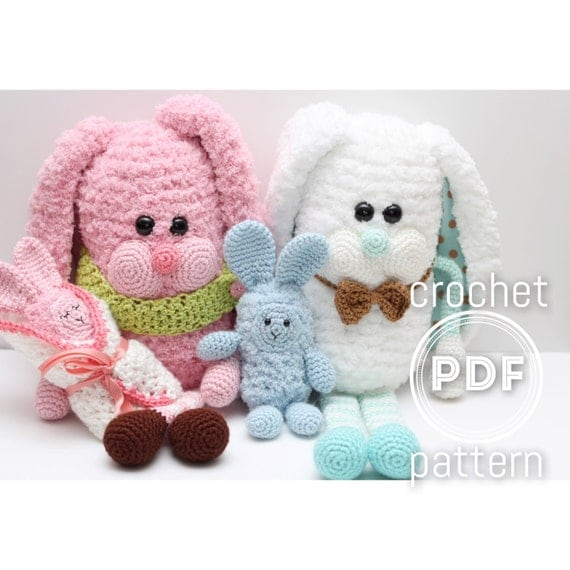 Crochet Free Pattern Promotion Shop For Promotional: Bunny Family Crochet Pattern Hoppy Family PDF