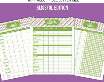 Finance Printables, Budget Printables, Debt Tracker, Bill Tracker - Blissful Edition