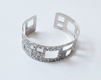 Sterling Silver Vienna Cuff / Sterling Silver Jewelry