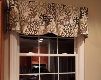 "Made to Order Custom PEYTON Hidden Rod Pocket Valance to fit 67""- 86"" window, modern window valance, made with your fabrics"