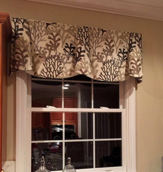 """Made to Order Custom PEYTON Hidden Rod Pocket Valance to fit 67""""- 86"""" window, modern window valance, made with your fabrics"""