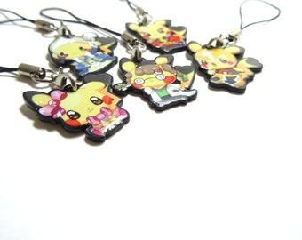 Cosplay Pikachu Charm Set