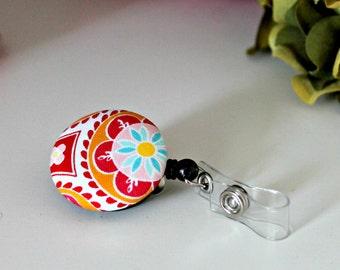 Pink Medallion Design Badge Reel